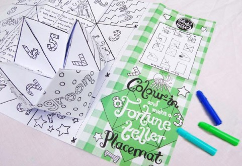 Colour in Placemat - Fortune Teller