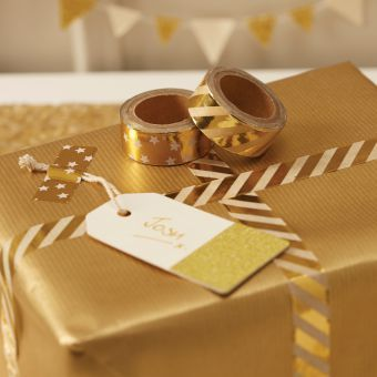 Gold Foiled Washi Tape, Set of 2 rolls