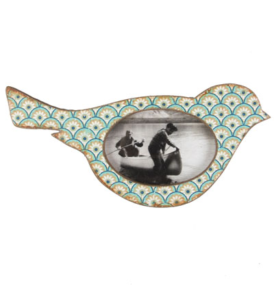 Moroccan Inspired Bird Photo Frame, Blues