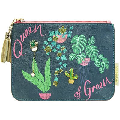 Queen of Green Plant Lover  - Make Up Bag/Pencil Case